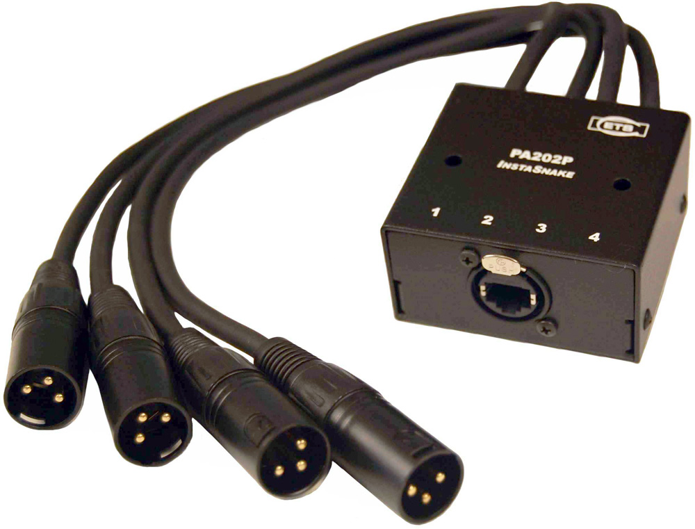 ETS PA202P InstaSnake Adapter - 4 MXLR 15 ft pigtail to RJ45 Jack