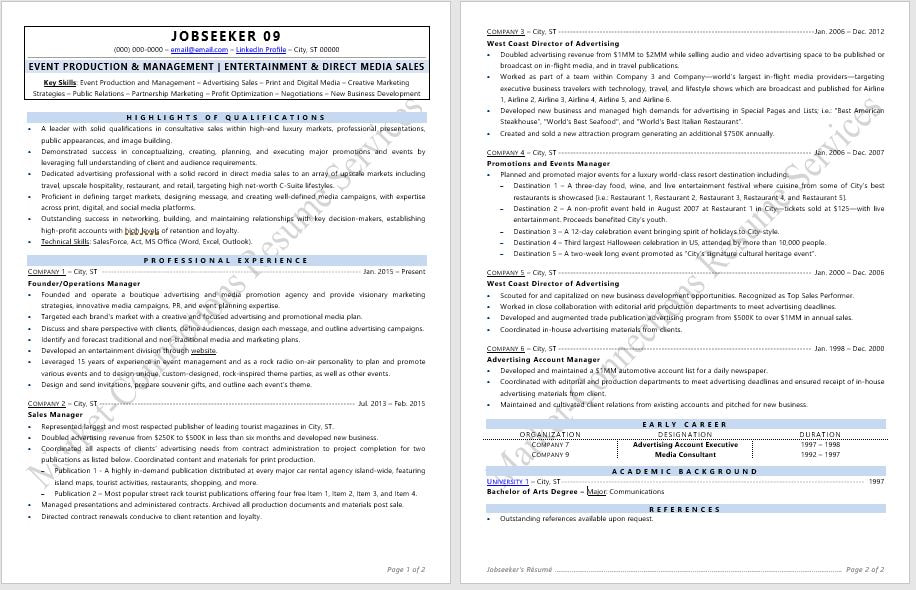 Cutting Edge Industry Specific Resume Samples - Certified Resume