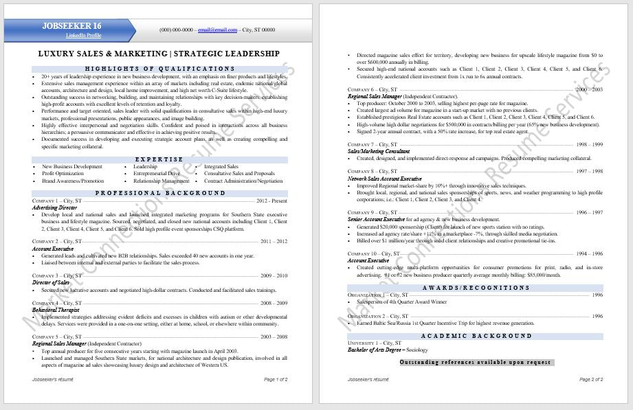 Modern Professional Resume Samples - Certified Resume Writer