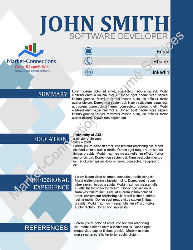 Visual CV samples, Free Visual resume with purchase - Professional