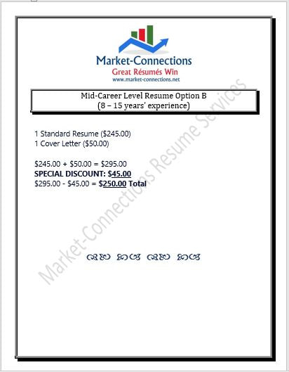 Mid-Career-Level Resume Writing Service, Cover Letter Writing