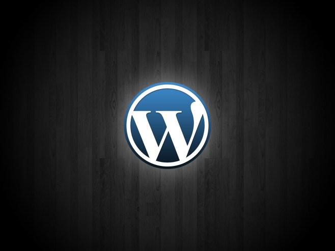 Wordpress glowing logo