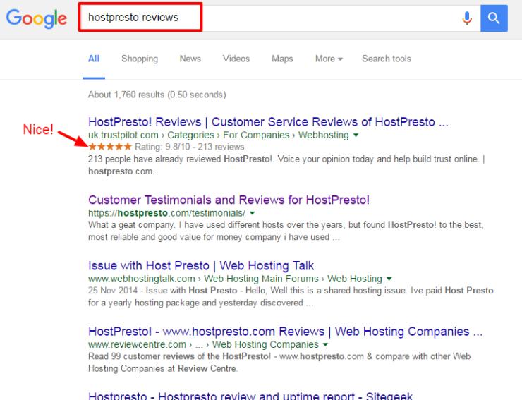 hostpresto reviews Google Search