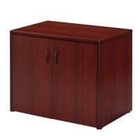 2-Door Storage Cabinet 36X22, Cherry or Mahogany
