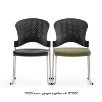 Office Master SG2K Stacking Guest Chair-Padded Fabric Seat ...