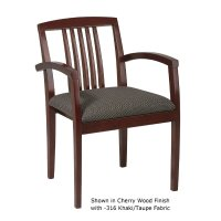 Guest Chair - Sonoma Cherry Finish w/ Wood Slat Back
