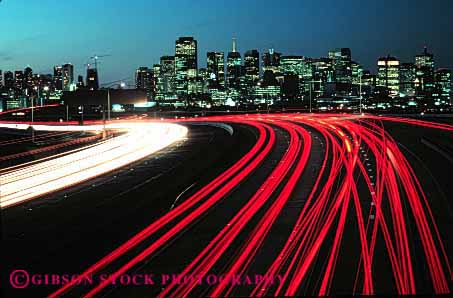 Car Streaks Wallpaper Traffic Streaks Highway 101 San Francisco California Stock