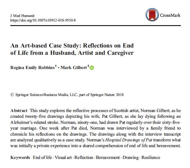 Mark Gilbert PhD, Med Humanities, Arts Research  Statement/News