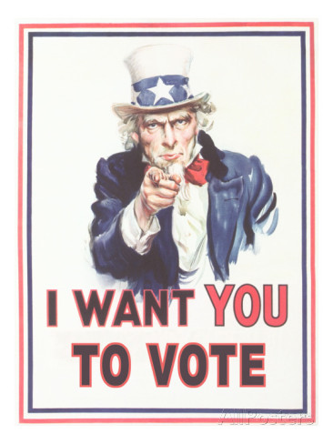 Uncle Sam - I want you to vote