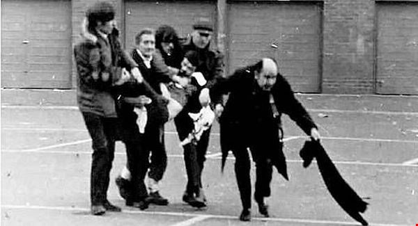 Dr. Edward Daly at Bloody Sunday in January 1972.