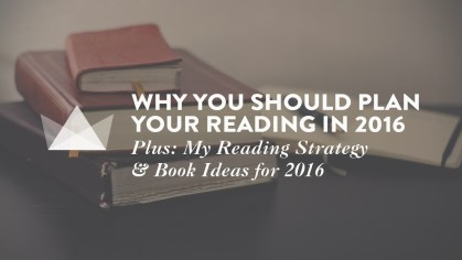 Why you should plan reading