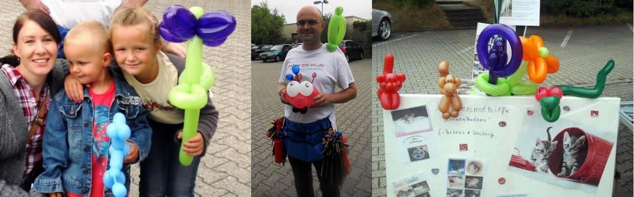 Ballonkünstler Markus Toni Vallen bei der Katzenhilfe Erkelenz 2013