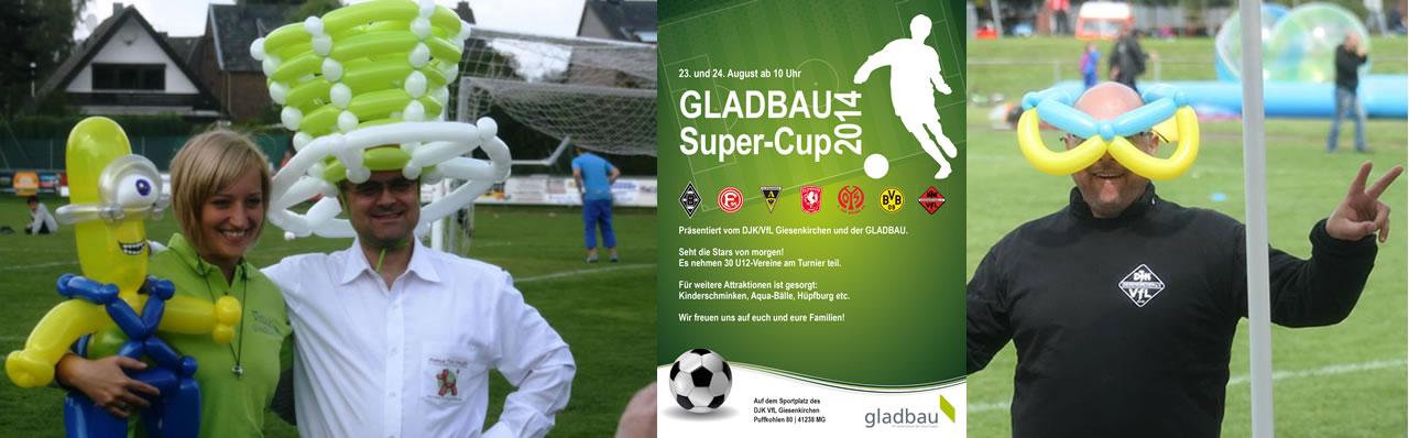 Ballonkünstler Markus Toni Vallen beim Gladbau Super-Cup 2014