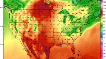 Alberta, Saskatchewan Get 90F Before Dallas, TX While Smokey Mountains Get Snow!