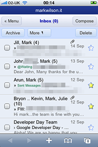 Google Mail on the iPhone