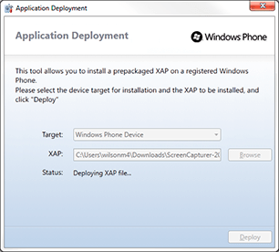 Windows Phone Application Deployment