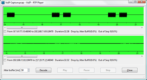 Playing back a VoIP call using the RTP packets from a Wireshark trace