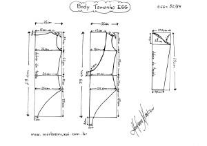 Molde de Body tamanho EGG (54/56).
