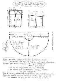 Esquema de modelagem de Vestido de Festa Godê curto tamanho 40.