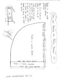 Esquema de modelagem de Saia com Abertura Circular tamanho PP.