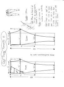 Esquema de modelagem de calça Swag tamanho P.