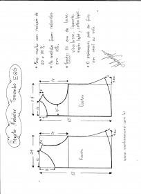 Esquema de Modelagem de regata nadador tamanho EGG.