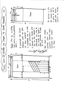 Esquema de modelagem da saia lápis com pregas na frente 50.