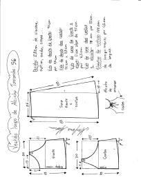 Esquema de modelagem de vestido de alcinha tamanho 56.