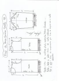 Esquema de modelagem de blusa  de moletom tamanho 48.