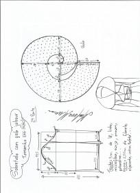 Esquema de modelagem de Sobretudo com gola jabour tamanho EGG. 2ª Parte.