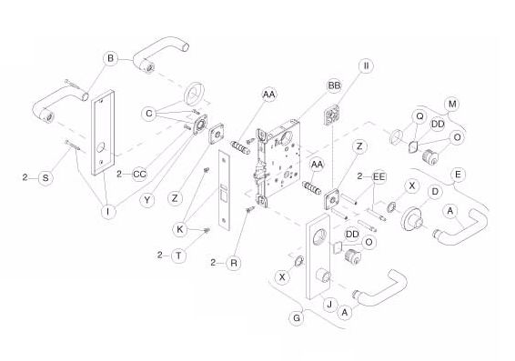 mortise lock diagram mortise lock with dual