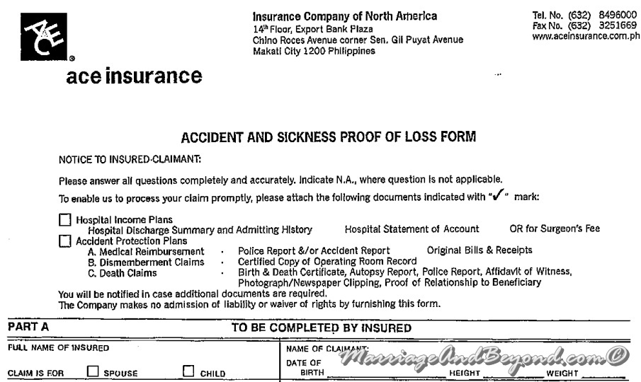 Ace Insurance How to File for Hospitalization Insurance Claim