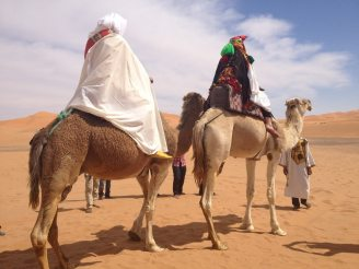 Paseo de camello en una Boda en el desierto
