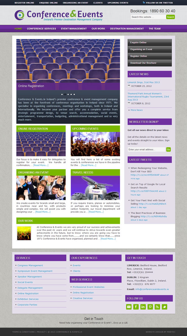 Conference  Events Logo and Website Design - Web Design Ireland