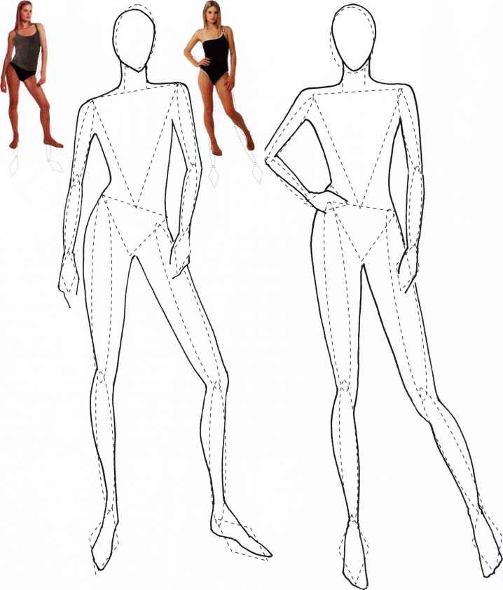 Fleshing out templates 2 to - Figure Illustration - Martel Fashion - fashion design template
