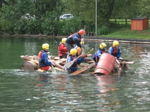 A not too successful raft!