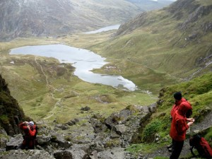 The cloud lifts over Cwm Idwal