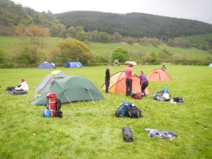 Getting organised at the camp site