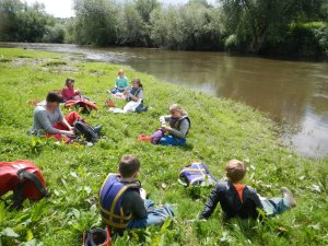 Lunch on the river severn