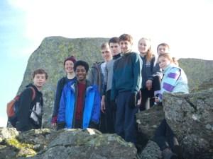 Enjoying the achievement of scaling Tryfan's north ridge