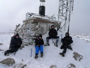 Looking tired at the summit of Cairngorm