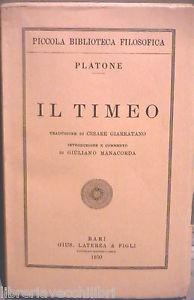 Platone: Timeo