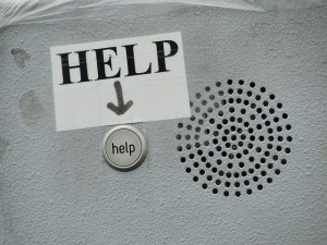 help sign help button speaker
