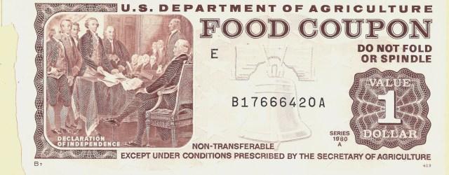 1980 Food Stamp Coupon