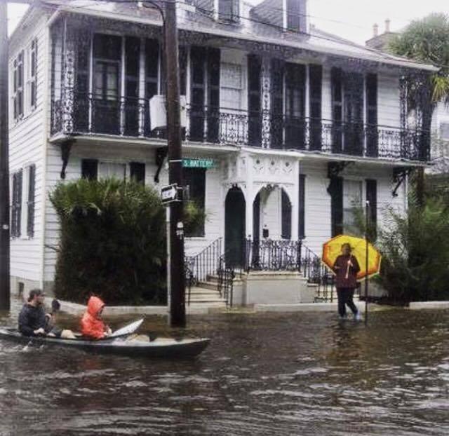 Corner of South Battery and Legare Charleston (photo credit: Sarah Hamlin-Hastings, via Facebook)