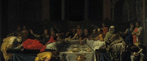 The Sacrament of Penance, by Nicolas Poussin, 1647. The Pharisees judge Jesus as an unclean woman washes His feet.