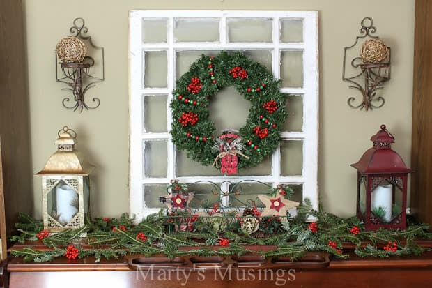 Christmas Mantel Decorating Ideas Martyu0027s Musings - christmas mantel decor
