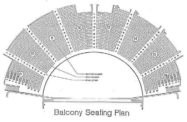 Ryman Auditorium Seating Plan