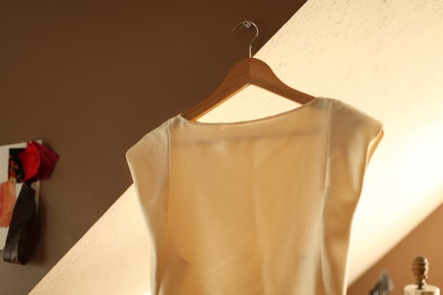 Silk Ivory Wedding Dress Top Burda Magazine September 2013 Dress 109B