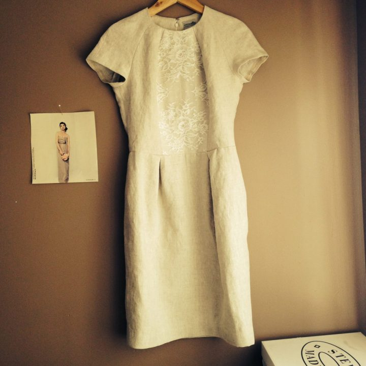 linen white bridal lace shift dress marusya wedding